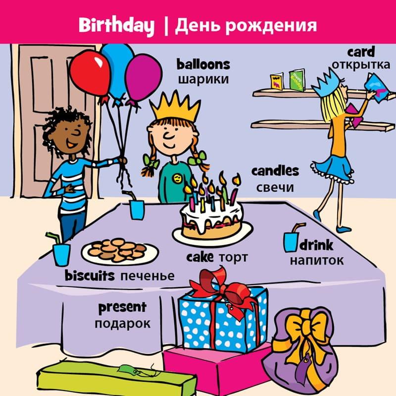 лексика по теме праздник для детей