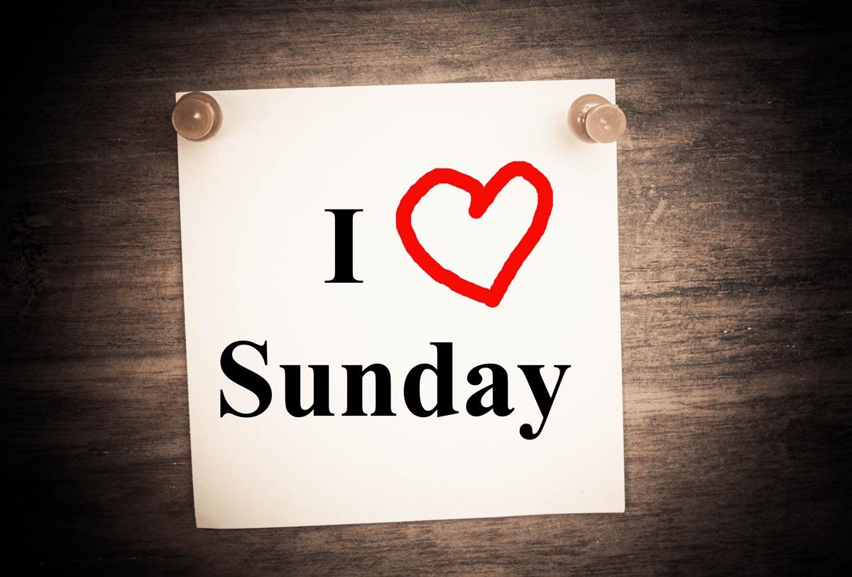 люблю воскресенье