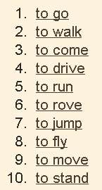 Глаголы движения в английском