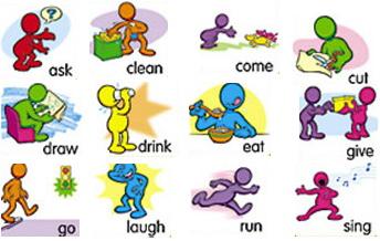 Английские глаголы для детей