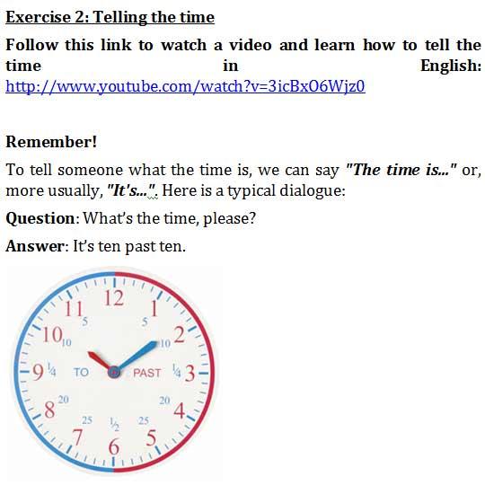 Спрашивать и говорить время