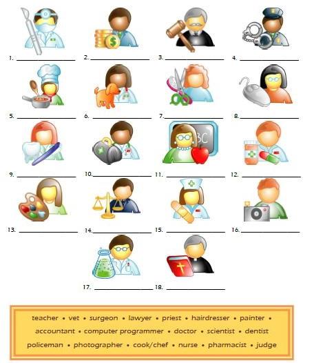 английский язык тема профессии