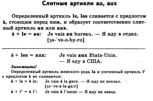 Артикли французского