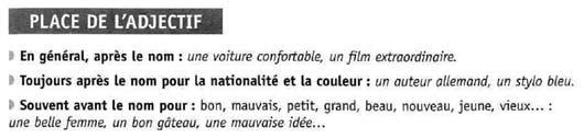 Французские прилагательные