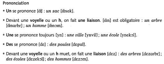 Неопределенный артикль во французском языке